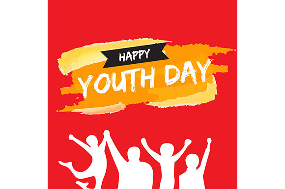 Download Free Template Card Of International Youth Day 12 08 Graphic By for Cricut Explore, Silhouette and other cutting machines.