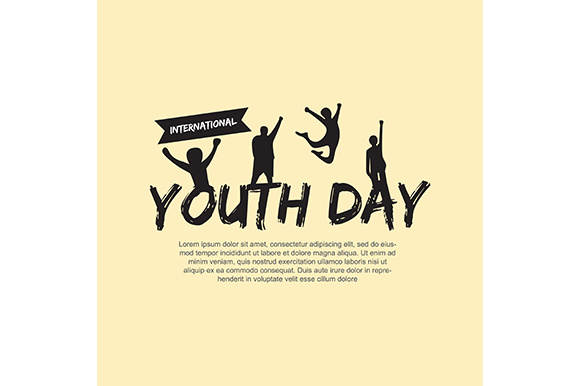 Template Card of International Youth Day 12 August Gráfico Fondos Por indostudio