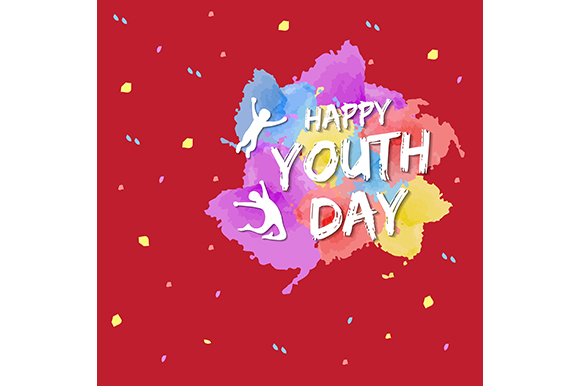 Download Free Template Card Of International Youth Day 12 August Graphic By for Cricut Explore, Silhouette and other cutting machines.