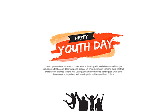 Template Card of International Youth Day 12 August Graphic Backgrounds By indostudio