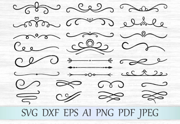 Text Deviders SVG Graphic Objects By MagicArtLab