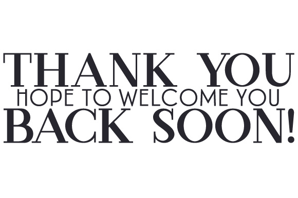Thank You - Hope to Welcome You Back Soon! Schule & Lehrer Plotterdatei von Creative Fabrica Crafts