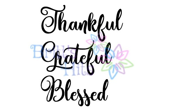 Download Free Thankful Grateful Blessed Svg Grafik Von Britt S Hits for Cricut Explore, Silhouette and other cutting machines.