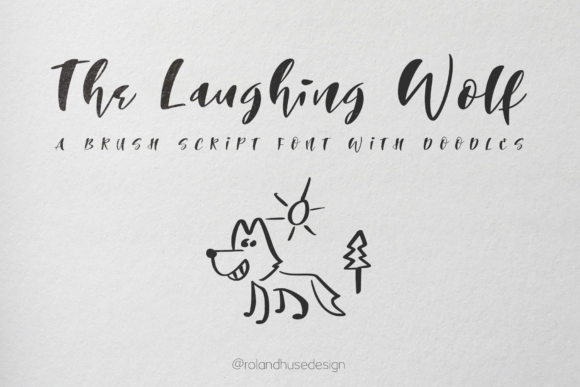Print on Demand: The Laughing Wolf Script & Handwritten Font By Roland Hüse Design