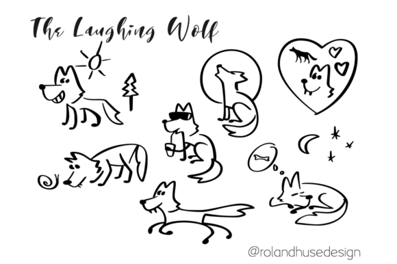 The Laughing Wolf Graphic By Roland Hüse