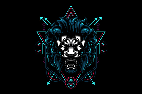 Download Free The Mythical Lion Grafico Por Syndicate Std Creative Fabrica for Cricut Explore, Silhouette and other cutting machines.