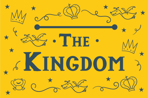 Print on Demand: The Kingdom Serif Font By Lickable Pixels