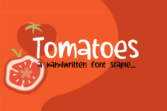 Print on Demand: Tomatoes Script & Handwritten Font By Illustration Ink - Image 1