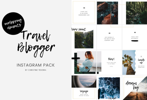 Travel Blogger Instagram Pack Graphic Presentation Templates By Christine Teixeira