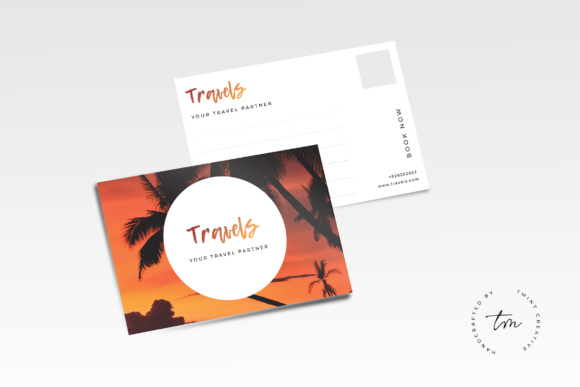 Travel Postcard Graphic Print Templates By TMint