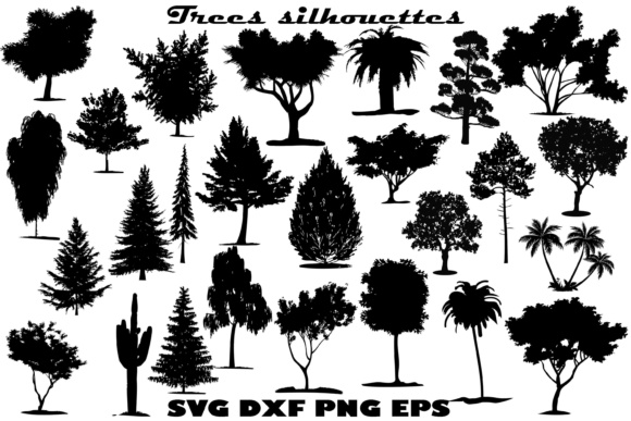 Tree Silhouette Graphic Crafts By twelvepapers - Image 1