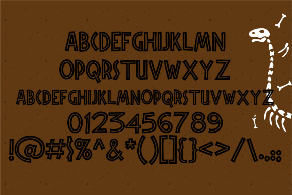 Print on Demand: Triassic Dinosaurs Display Font By Illustration Ink - Image 2
