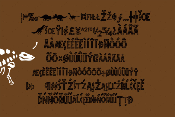 Print on Demand: Triassic Dinosaurs Display Font By Illustration Ink - Image 3