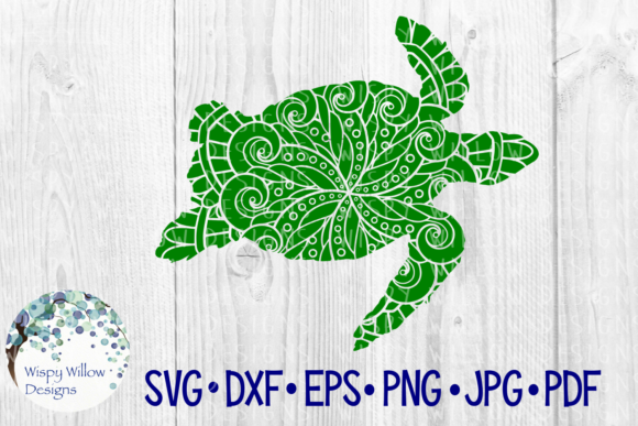 Download Free Turtle Animal Mandala Sea Ocean Summer Beach Cut File Graphic for Cricut Explore, Silhouette and other cutting machines.