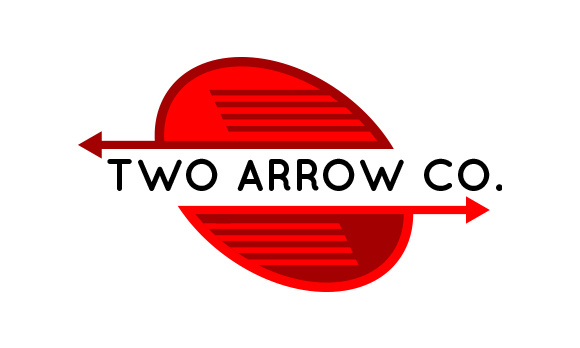 Print on Demand: Two Arrow Business Logo Template Graphic Logos By davidrockdesign