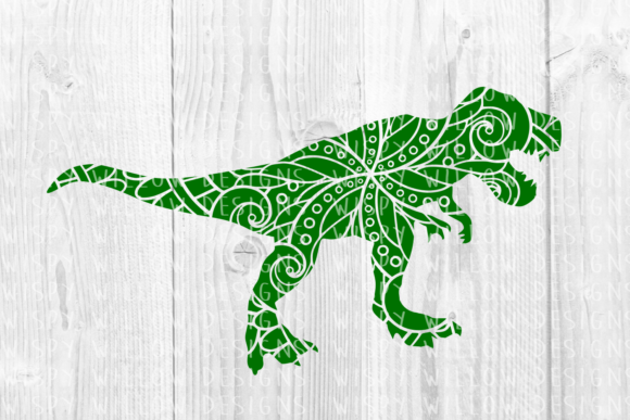 Download Free Tyrannosaurus Rex T Rex Dinosaur Mandala Animal Cut File for Cricut Explore, Silhouette and other cutting machines.