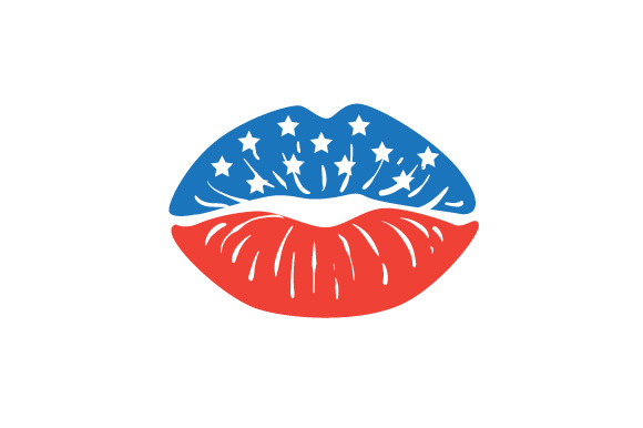 US Lips Designs & Zeichnungen Plotterdatei von Creative Fabrica Crafts