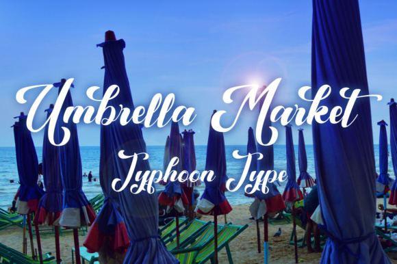Print on Demand: Umbrella Market Script & Handwritten Font By Typhoon Type - Suthi Srisopha