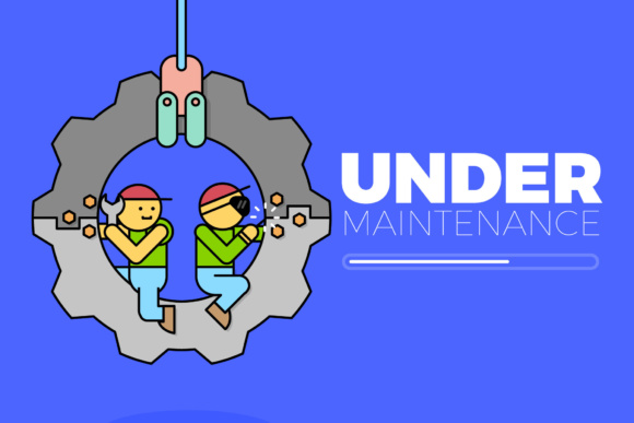 Under Maintenance Graphic By KitCreativeStudio