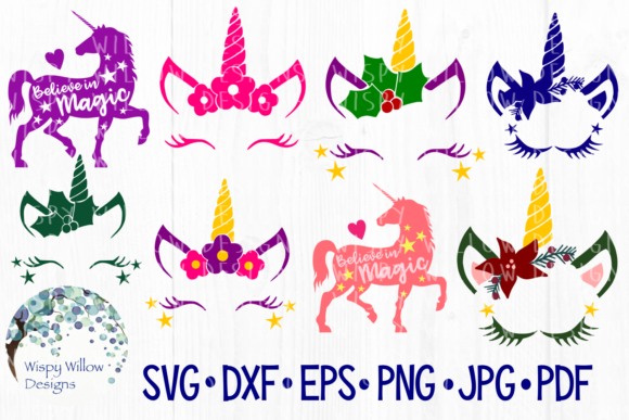 Download Free Unicorn Bundle Graphic By Wispywillowdesigns Creative Fabrica SVG Cut Files