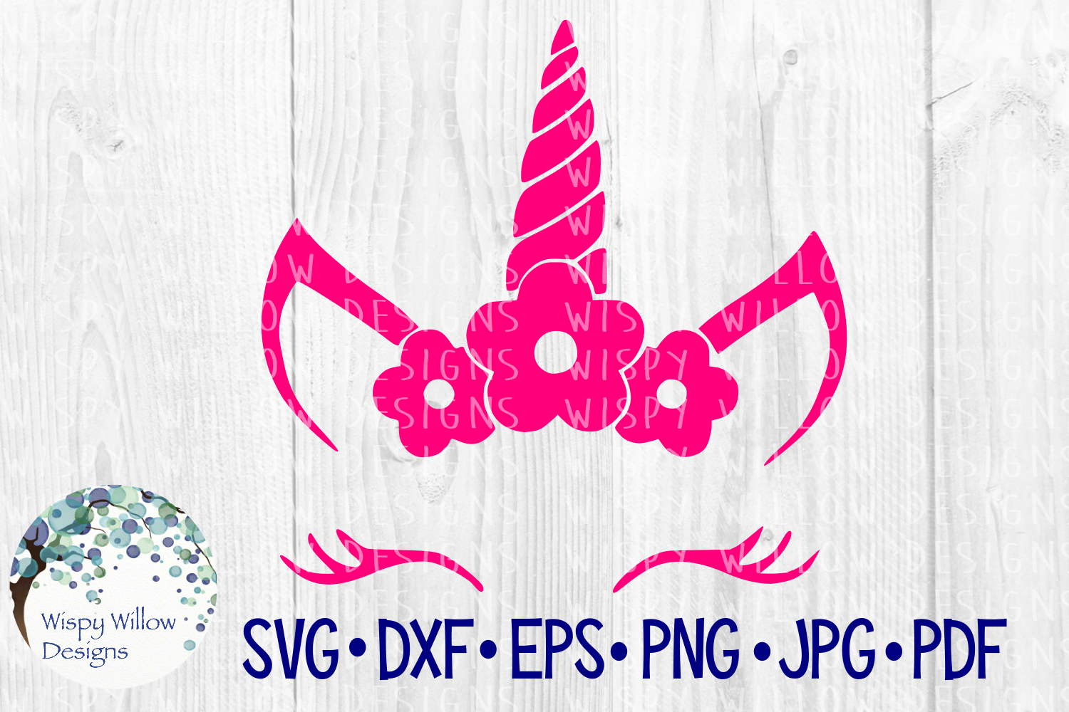 Download Free Unicorn Face Flowers Girl Cut File Graphic By for Cricut Explore, Silhouette and other cutting machines.