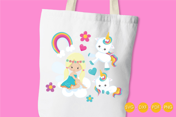Unicorn Fairy Graphic Crafts By PrettyCuttables - Image 3