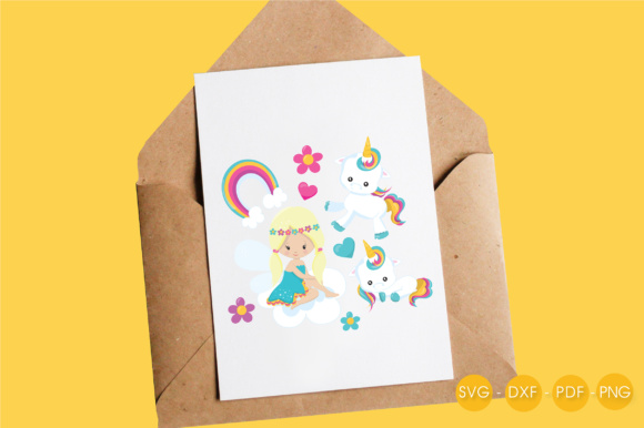 Unicorn Fairy Graphic Crafts By PrettyCuttables - Image 4