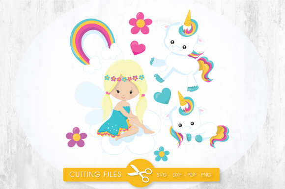Unicorn Fairy Graphic Crafts By PrettyCuttables - Image 1