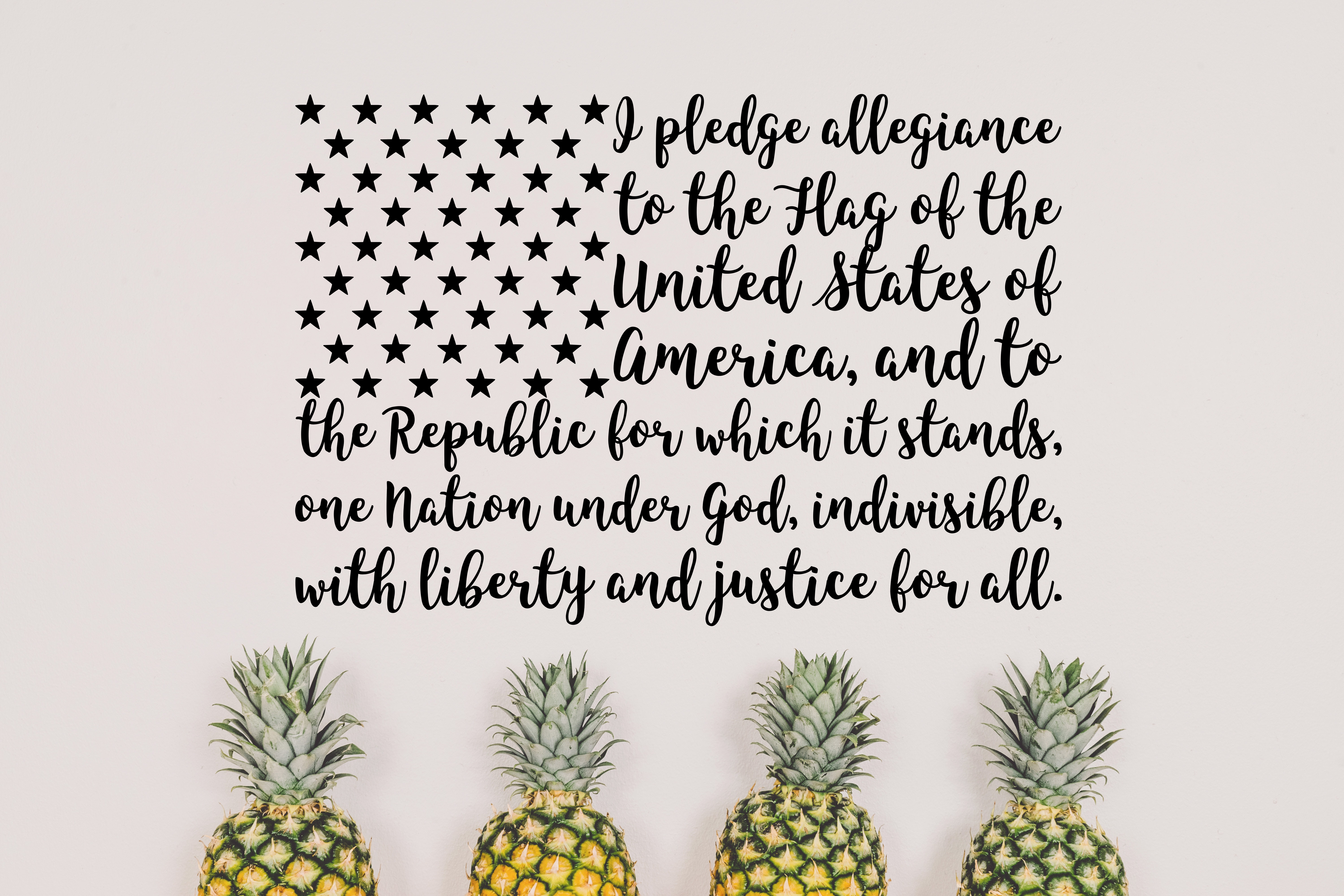 Download Free United States Pledge Svg Graphic By Missseasonsvinylcuts for Cricut Explore, Silhouette and other cutting machines.
