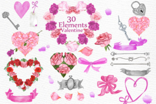 Print on Demand: Valentine Clipart Graphic Illustrations By LeCoqDesign
