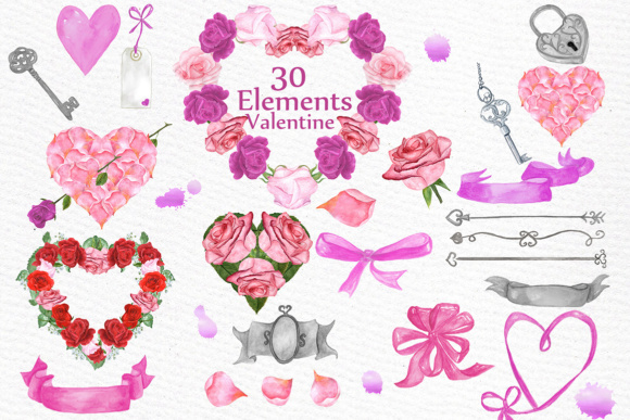 Valentine Clipart Graphic Illustrations By LeCoqDesign - Image 1