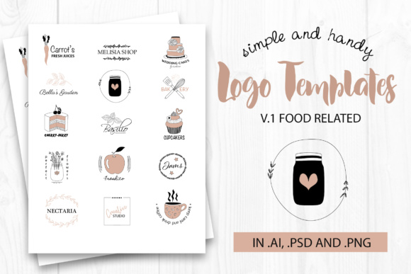 Vector Logo Templates Food Graphic By switzershop