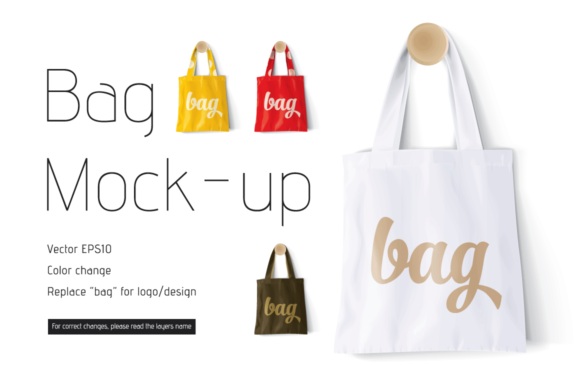 Vector Mockup Cotton Paper Bag Graphic Product Mockups By Pedro Alexandre Teixeira