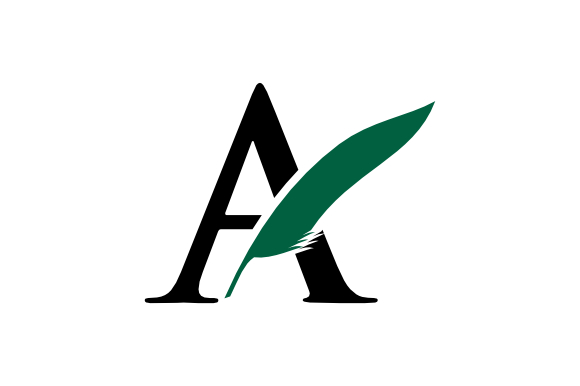 Download Free Vector Of Simple Logo Letter A Feather Simple Graphic By for Cricut Explore, Silhouette and other cutting machines.