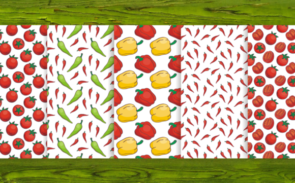 Print on Demand: 20 Seamless Vegetables Themed Patterns Graphic Patterns By Olga Belova - Image 2