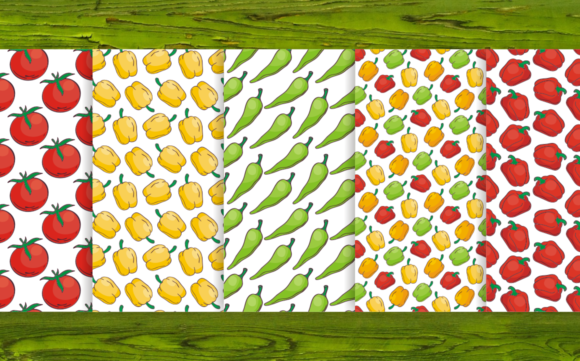 Print on Demand: 20 Seamless Vegetables Themed Patterns Graphic Patterns By Olga Belova - Image 3