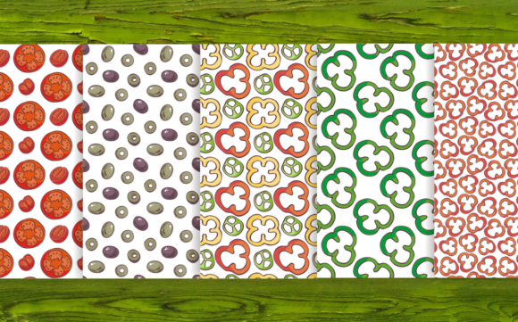 Print on Demand: 20 Seamless Vegetables Themed Patterns Graphic Patterns By Olga Belova - Image 4