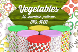 20 Seamless Vegetables Themed Patterns Graphic By Olga Belova