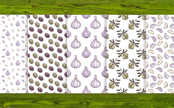 Print on Demand: 20 Seamless Vegetables Themed Patterns Graphic Patterns By Olga Belova - Image 5
