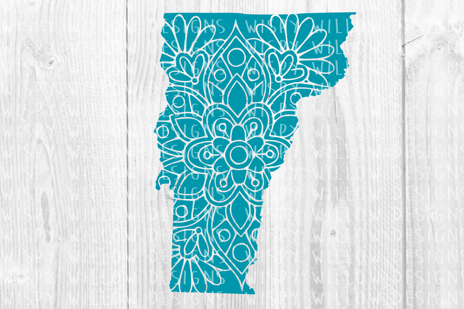 Download Free Vermont Vt Floral Mandala State Cut File Graphic By for Cricut Explore, Silhouette and other cutting machines.