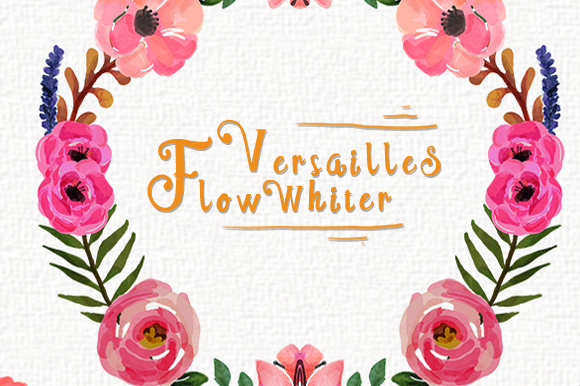 Print on Demand: Versailles Flow Whiter Decorative Font By brnk1314