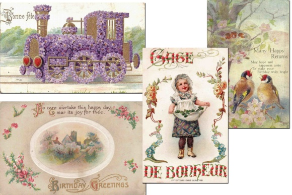 Print on Demand: Vintage Greeting Cards Grafik Illustrationen von retrowalldecor - Bild 2