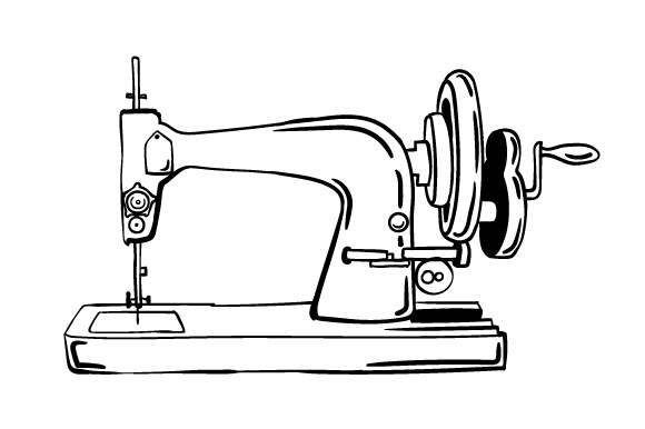 Download Free Vintage Sewing Machine Design Svg Cut File By Creative Fabrica for Cricut Explore, Silhouette and other cutting machines.