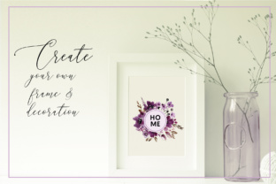 Violet Watercolor Floral Set Graphic By anisillustration