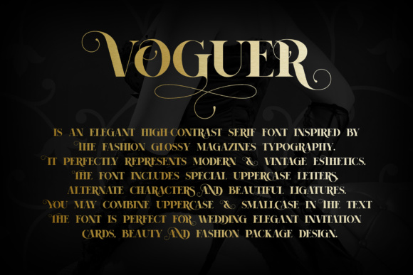 Print on Demand: Voguer Serif Font By NREY - Image 2
