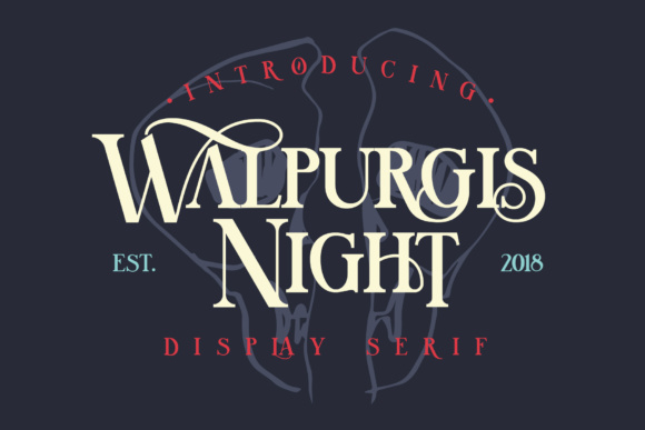 Print on Demand: Walpurgis Night Serif Font By NREY - Image 1