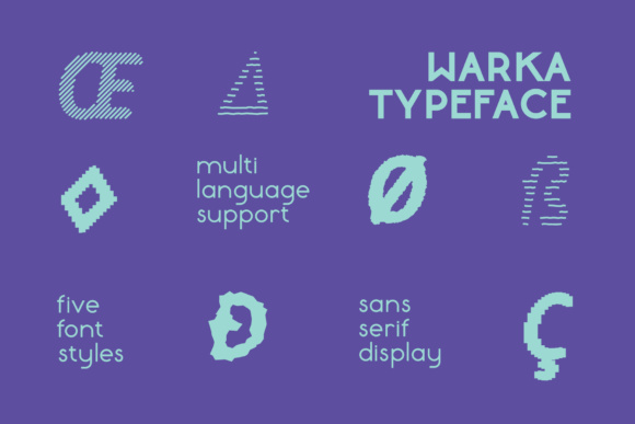 Print on Demand: Warka Rough Display Font By Etewut - Image 4