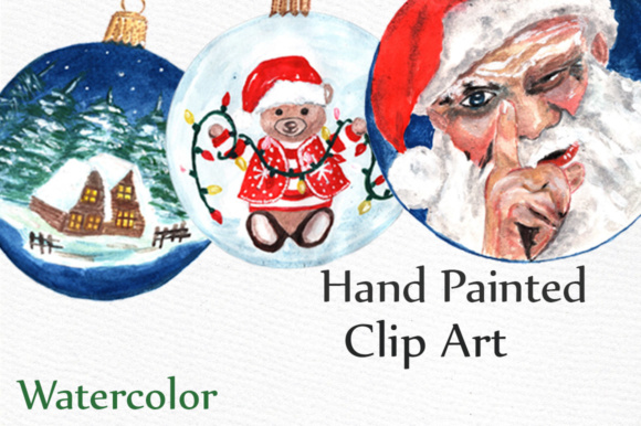 Download Free Watercolor Christmas Ornaments Gingerbread Cookies Clipart SVG Cut Files