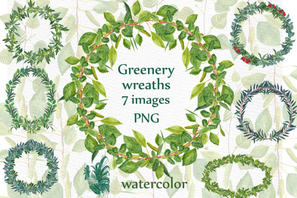Download Free Watercolor Fern Wreaths Clipart Greenery Wreaths Wedding Clip Art for Cricut Explore, Silhouette and other cutting machines.
