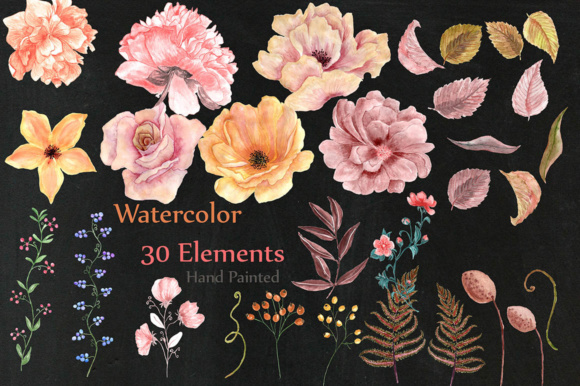Watercolor Flowers Clipart Graphic Illustrations By LeCoqDesign - Image 2